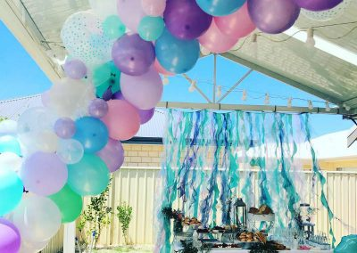 Under the Sea Magic Birthday Party - balloon arch