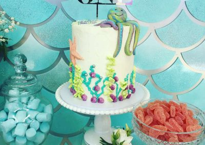 Under the Sea Magic Birthday Party - birthday cake