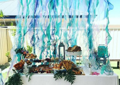 Under the Sea Magic Birthday Party - buffet table