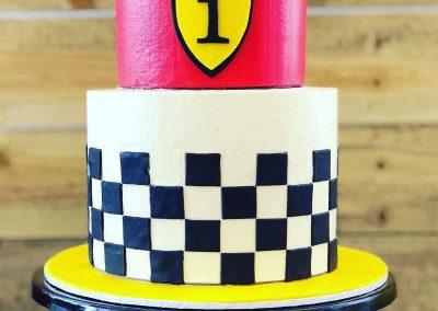 Car Racing First Birthday - cake