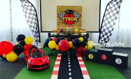 Car Racing First Birthday Party