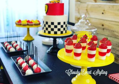 Car Racing First Birthday - sweets table
