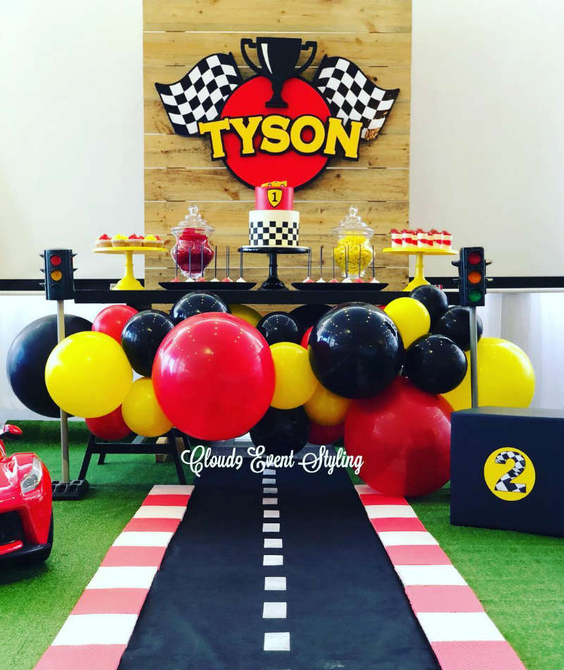 Car Racing First Birthday Party Kids Party Time