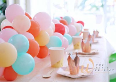 Garden Wonderland Birthday Party - table setting