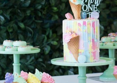 Ice-Cream Dreams Birthday Party - Birthday Cake