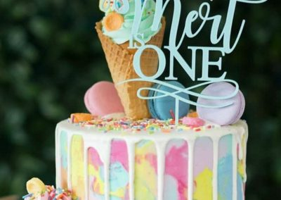 Ice-Cream Dreams Birthday Party - Cake Topper