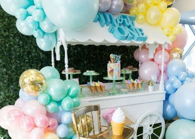 Ice-Cream Dreams Birthday Party - Dessert Cart