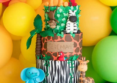 Animal Jungle Birthday Party - Birthday Cake