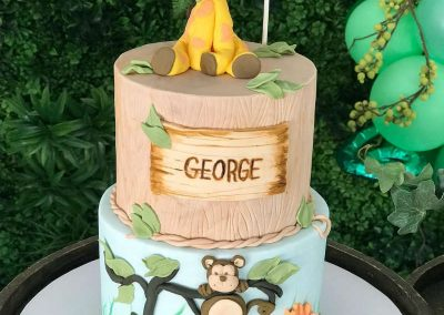 Jungle Birthday Party - Blushing Events - Birthday Cake
