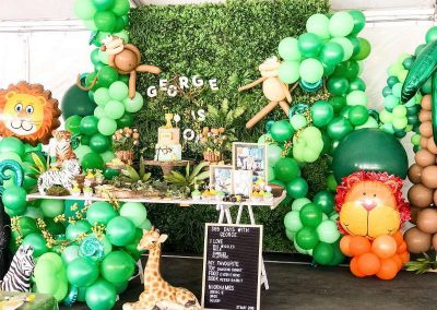 Jungle Birthday Party - Blushing Events - Display