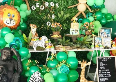 Jungle Birthday Party - Blushing Events - Display Table