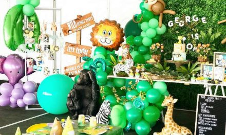 First Jungle Birthday Party for George