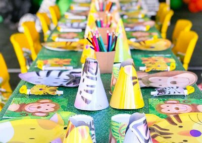 Jungle Birthday Party - Blushing Events - Party Table