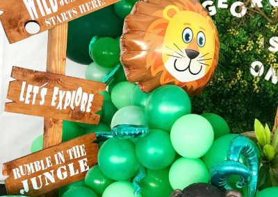 Jungle Birthday Party - Blushing Events - Sign