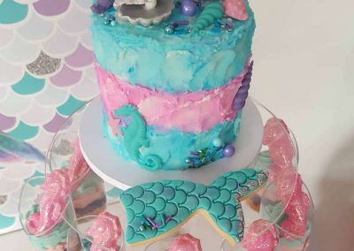 Mermaid Birthday Party - Sorella Event Styling - Cake