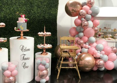 Pink First Birthday Party - Overview