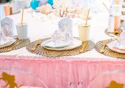 Under the Sea Magical Birthday Party - Table Setting