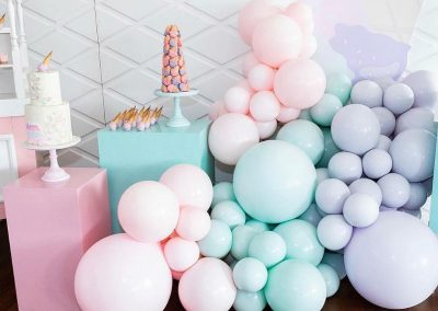 Ice Cream First Birthday Party - Balloons