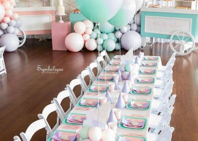 Ice Cream First Birthday Party - Tables