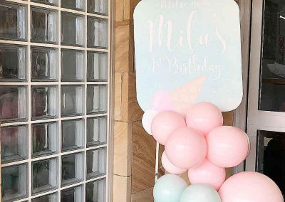 Ice Cream First Birthday Party - Welcome Sign