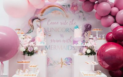 Mermaid vs Unicorn Inspired Birthday Party