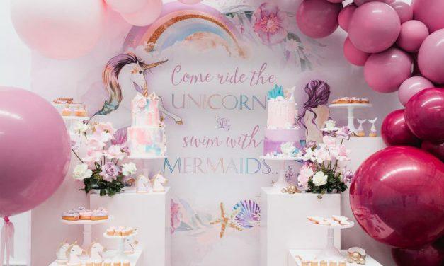 Mermaid vs Unicorn Inspired Birthday Party