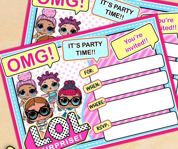 FREE LOL Surprise Birthday Party Printables