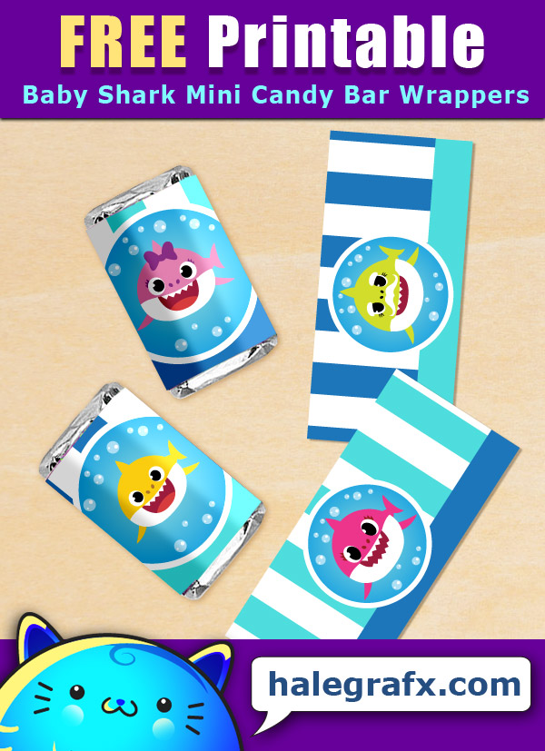 FREE Baby Shark Mini Candy Bar Wrappers