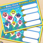 FREE Baby Shark Birthday Party Printables